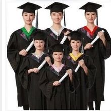 Black Bachelor of Clothes Academic Gown Graduation Dress Graduated Academic Dress Erformance Clothing 18
