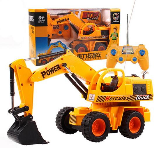 Baby toys 4Ch 1:24 large Remote control engineering truck excavator car boy toys rc car electric bulldozer kids toy gifts