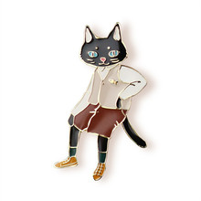 Бесплатная доставка моды женщины Нью Ювелирные Изделия оптом Модные кошка Г-Н брошь