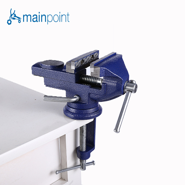 Mainpoint Household Bench Vice Jaw Steel 360 Degrees Adjustable