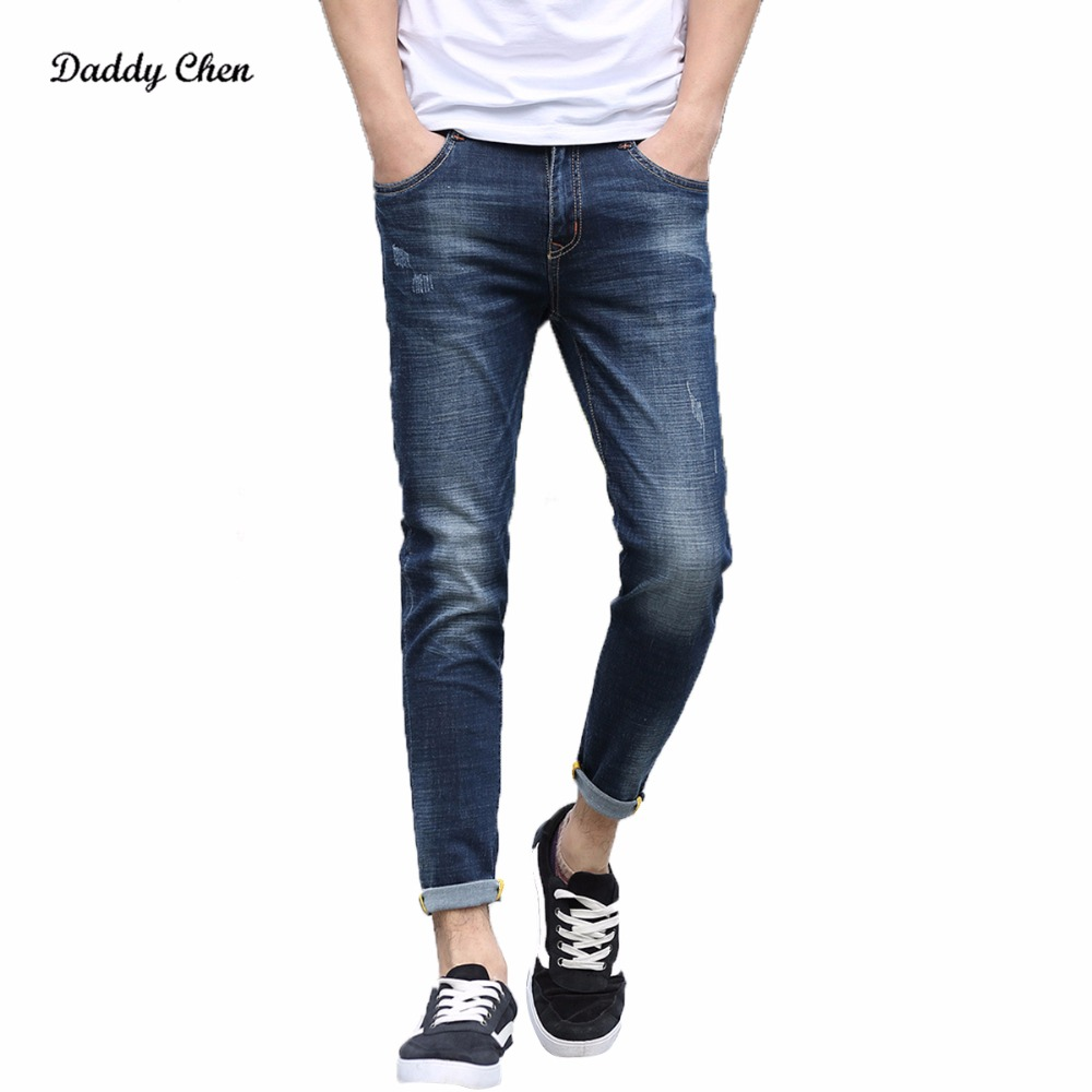 Brand Skinny Jeans Men Stretch Slim Denim Jeans Mens Casual Cotton Designer Ankle Length Jeans Malinois Jean Homme Plus Size toonies brand jeans men four seasons high quality straight full length blue hip hop jean male denim skinny men s jean pant homme