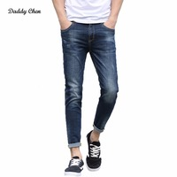 Brand Skinny Jeans Men Stretch Slim Denim Jeans Mens Casual Cotton Designer Ankle Length Jeans Malinois