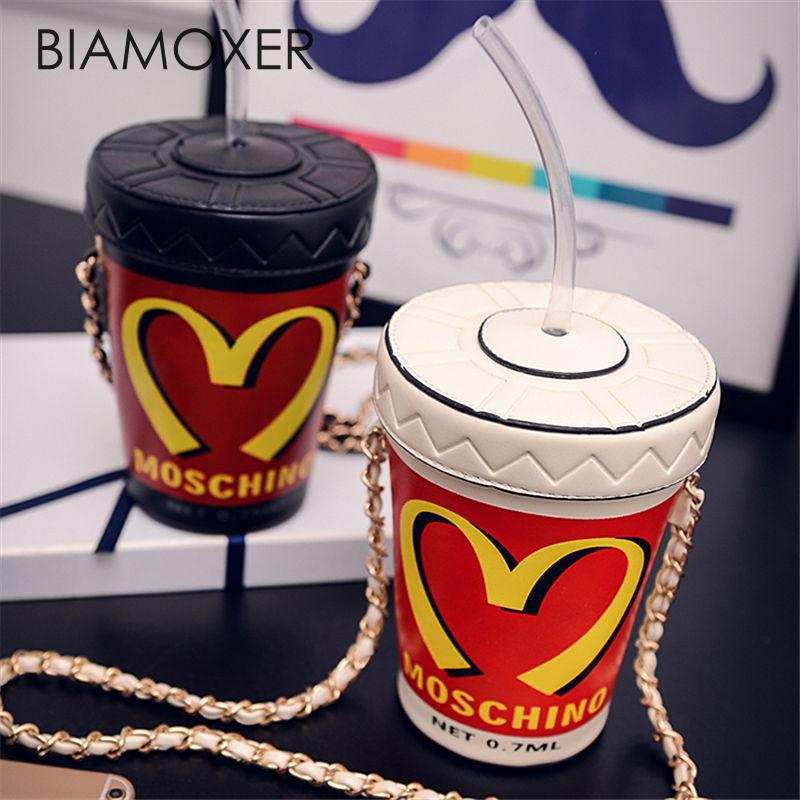 Biamoxer Women Cup Mini Small Crossbody Shoulder Chain Bucket Bag Tote Handbag Purse For Lolita Cosplay