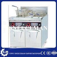 56L Electric 2 Tanks Fryer 4 Baskets Vertical double cylinder double screen electric deep fryer maker machine