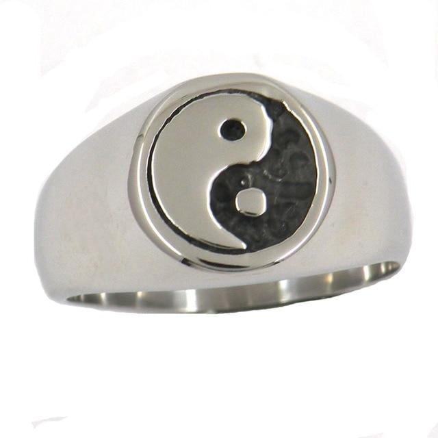 Fanssteel из нержавеющей стали jewelrychinese Taichi Инь Ян кольцо FSR12W46