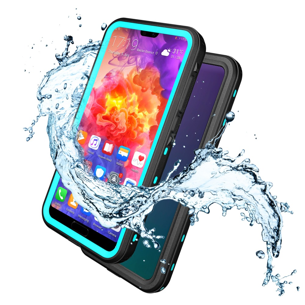 Leanonus Waterproof Case for HUAWEI P20 Pro Snow Proof Dustproof Case Full Protection for HUAWEI P20 Lite Outdoor Sports Case