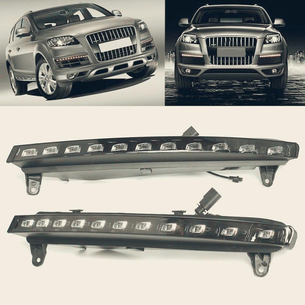 22 LED Daytime Running Lights DRL Fog Light For 07-09 Audi Q7 w/Turn Signal