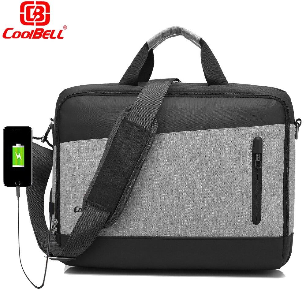 CoolBELL Laptop Bag 15.6 15 Inch Messenger Bag W/ USB ...