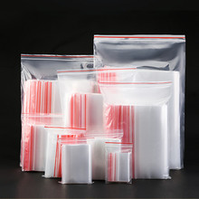 100pcs/lot Medium thickness  12wire Various sizes clear Self Sealing Plastic packaging Bags,zip lock poly bags zipper bag Ziploc