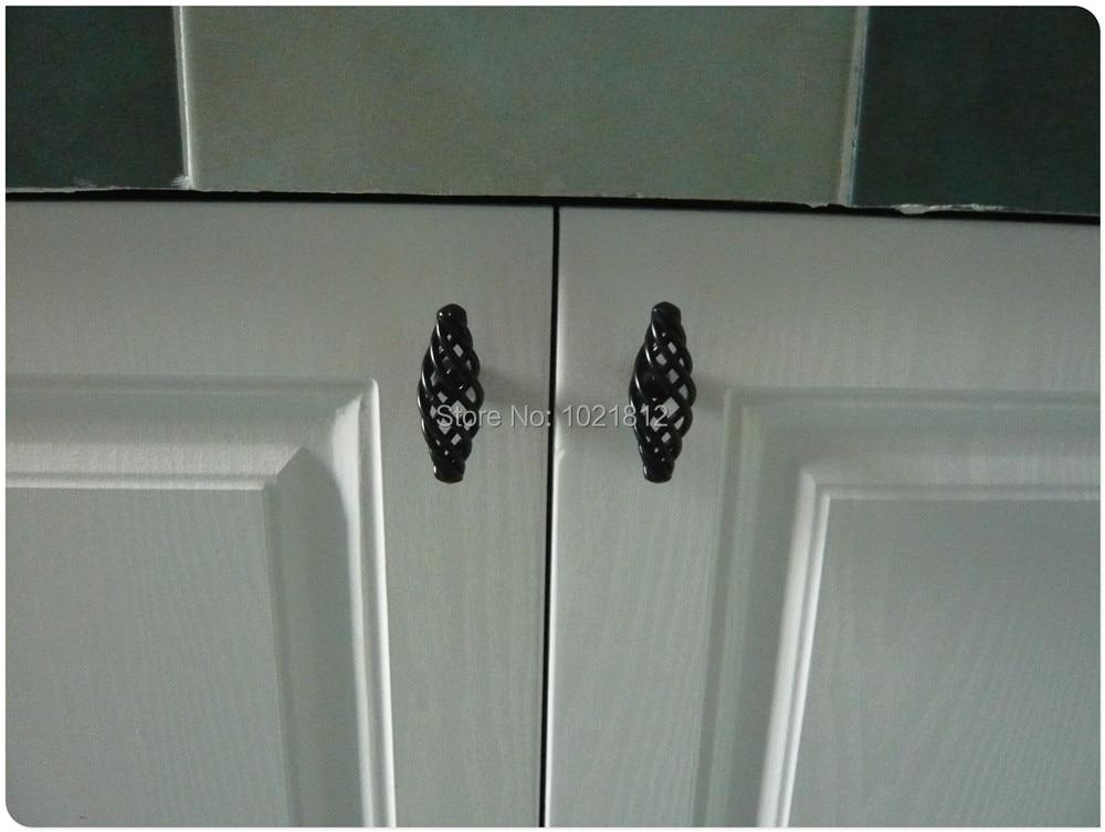 Cabinet Handles Kitchen Cupboard Closet Dresser Drawer Pulls S Black Birdcage Series Hbk 001 In From Home