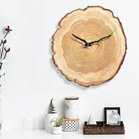 Bedroom Clock Wall Modern Retro Living Room Wooden Vintage Wall Clock Big Large Decor 3D Kitchen Clocks Wall Home Decor 3DBGJ03