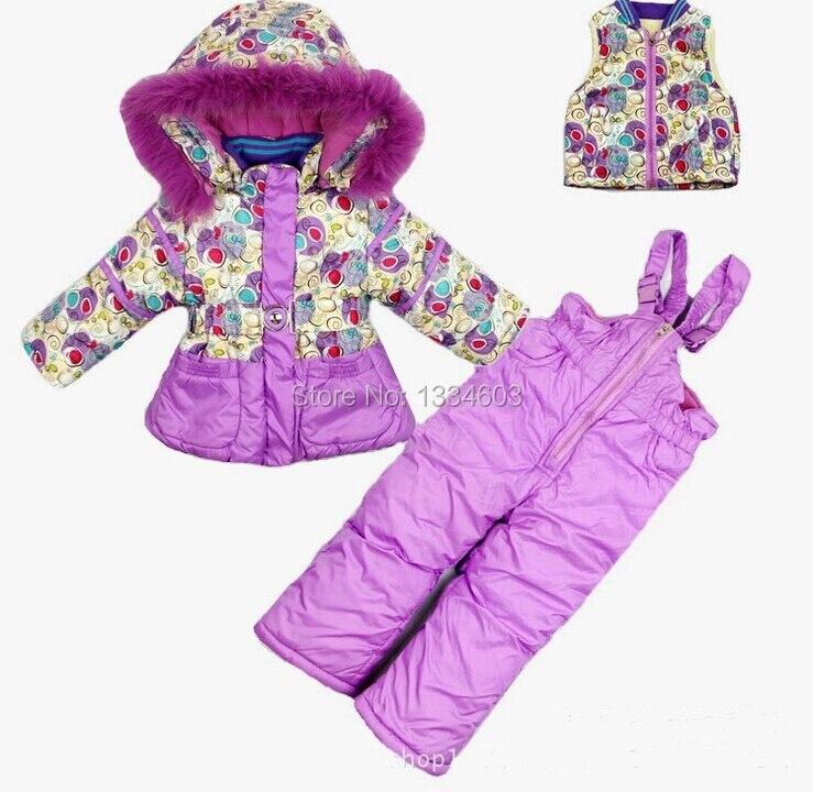 Ski Suit Girls Frozen Winter Jacketjumpsuit Snow Suits -6097