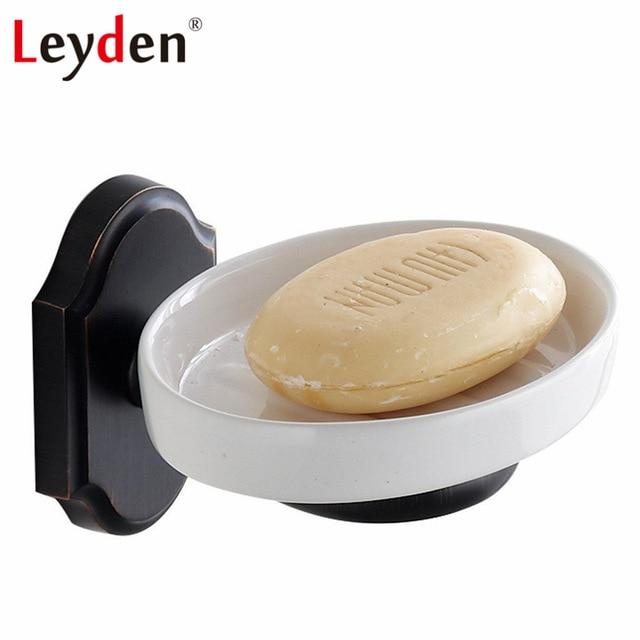 Leyden Orb Ceramic Soap Dish Holder Sus 304 Stainless Steel Oil