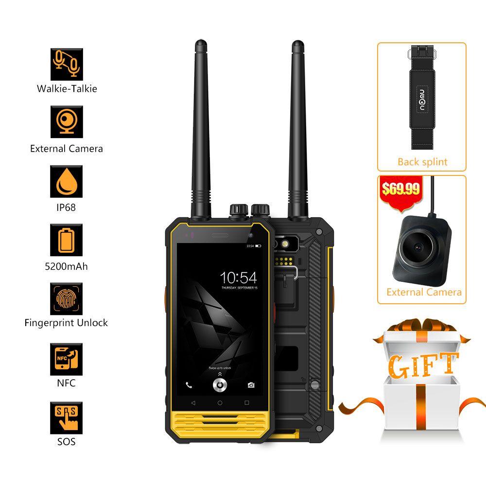 Оригинал ному T18 IP68 водонепроницаемый смартфон 4.7 &#171;HD портативной рации андроид 7.0 3 ГБ + 32 ГБ 5200 мАч 8MP <font><b>NFC</b></font> <font><b>OTG</b></font> 4 г LTE Мобильного Телефона
