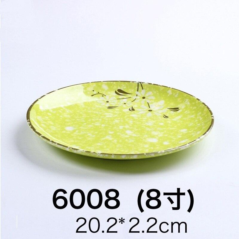 High quality Stylish 3pcs Dinner Plates Plastic A5 Imitation Ceramic Tray Kitchen Tableware Dessert Fruit Dish Plate pratos