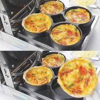 220V 4pcs Electric Pizza Baking Furnace Machine Multifunctional Electric Scones Roasted Eggs Frying Machine Oven EU/AU/UK