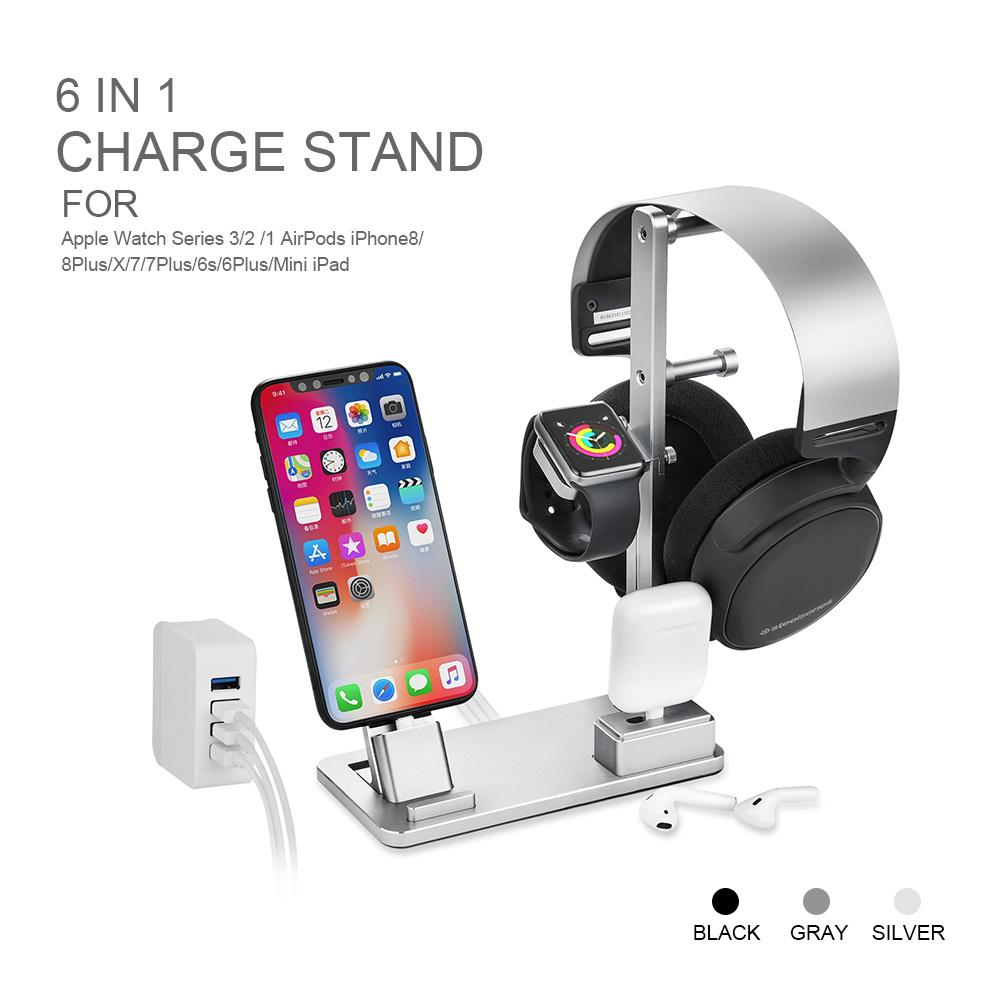Aliexpress.com : Buy 6 In 1 for Apple Watch Stand Station Aluminum Charging Stand Dock Headphones Holder for Apple Watch Series3/2/1/iPhone/Mini ...