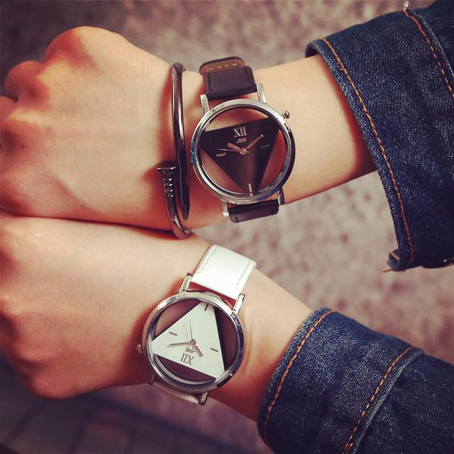 Fashion Triangle Transparent Watch Women Watches Women's Watches Ladies Watch Clock reloj mujer relogio feminino zegarek damski