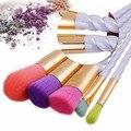 Vander 5 pcs Cor Pro Pincéis de Maquiagem Kits Cosméticos Puff maquiagem Fundação Kabuki Blush/pó/corretivo/cônico/delineador