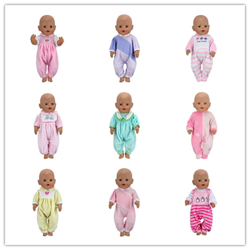 15 Style choose Fashion Jumpsuits clothes Wear fit 43cm Baby Born zapf,  Children best  Birthday Gift(only sell clothes)