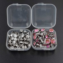 50 sets / LOT. Diamond rivets.Acrylic diamond buttons. Snaps. Colored decorative nails. Clothing & Accessories.