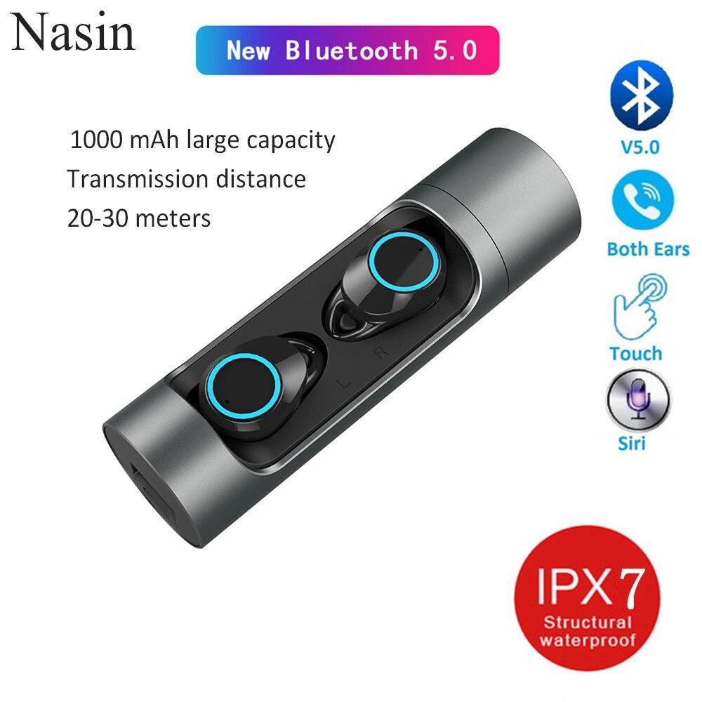 Nasin Touch TWS X8 Bluetooth 5,0 Wireless Kopfhörer Ohrhörer Wasserdichte IPX7 Headset mit Lade Box Für Xiaomi IPhone huawei-in Handy-Ohrhörer und Kopfhörer Bluetooth aus Verbraucherelektronik bei  Gruppe 1