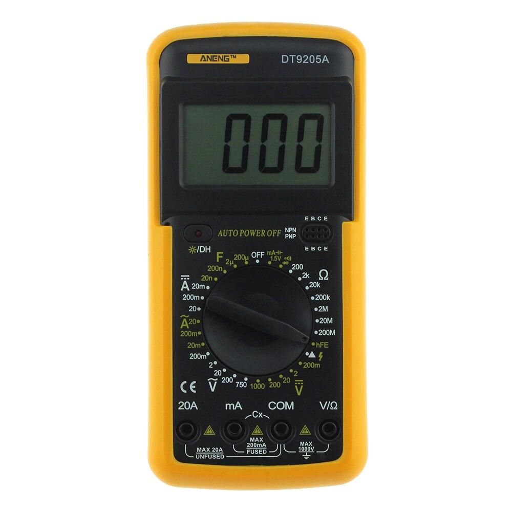Aneng Dt9205a Digital Multimeter Ac Dc Voltage Current Resistance Circuit Tester Multi Voltmeter Capacitance Ammeter Lcd