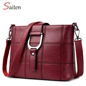 Luxury Women Messenger Bags Designer Woman Bag 2017 Brand Leather Shoulder Bags Tote Bag sac a main femme nouvelle collection tote bag