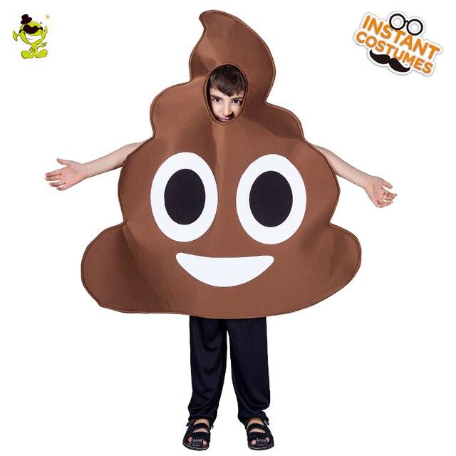 8e77aa56ae4 Drôle caca Emoji Costumes unisexe enfants amusant merde émotion combinaison  pour spectacle de fête