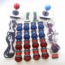 Free Shipping ! Arcade USB Controller Handle + 5 Pin Arcade Joystick + 16 LED Arcade Push Buttons For Arcade diy kits Parts MAME