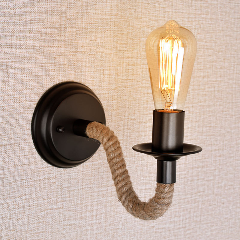 Wall Lamp Hemp Rope Led Lights