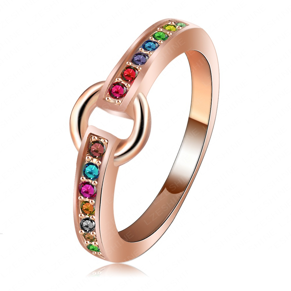 beagloer brand rings woman ring rose gold color candy