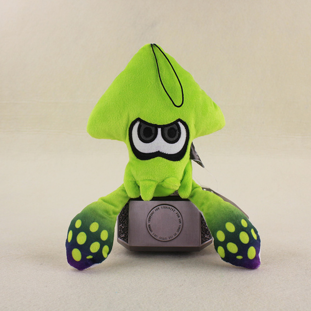 24cm japan f s splatoon lime green inkling squid plush doll stuffed soft doll kids
