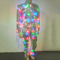 LED Clothing 2017 Hot Vestidos Glowing Luminous Suits Costumes Twinkle Star Men LED Clothes Pants Party Dance Accessories