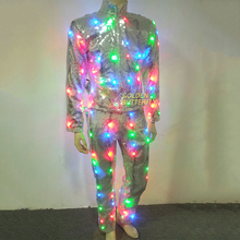 LED Clothing 2015 Hot Vestidos Glowing Luminous Suits Costumes Twinkle Star Men LED Clothes Pants Party Dance Accessories
