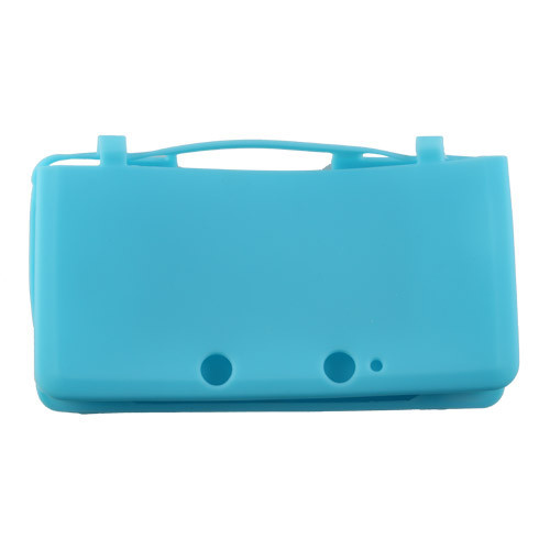 Light Blue Silicon Soft Game Case Skin Cover Pouch Sleeve for Nintendo 3DS Console