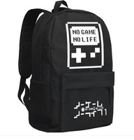 New Anime no game no life Backpack Fashion Luminous Oxford SchoolBag Unisex