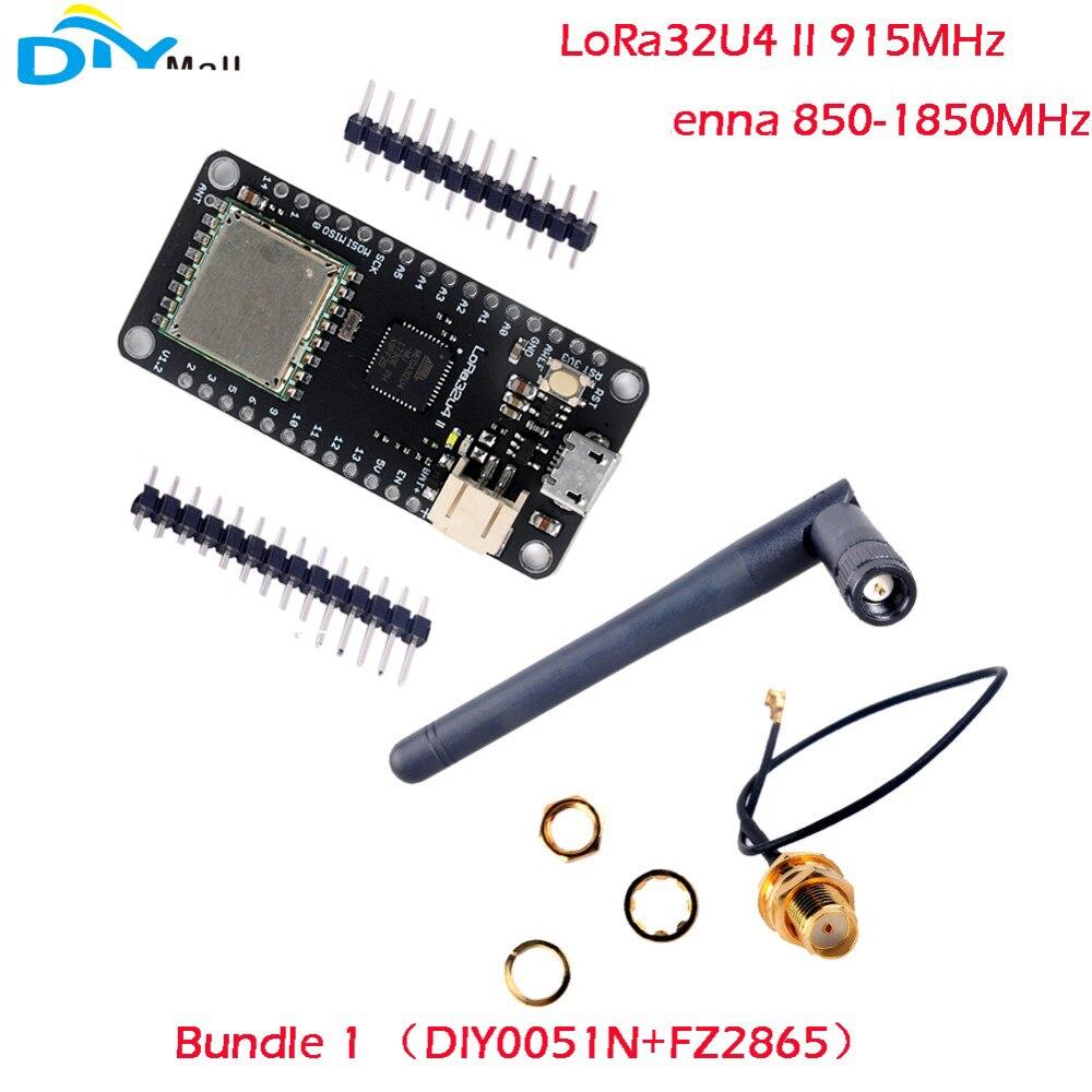 RCmall LoRa32u4 II Lora Développement Conseil LiPo Atmega328 SX1276 HPD13 915 mhz avec Antenne pour Arduino FZ2865/FZ2862 + DIY0051N