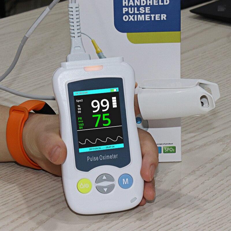 Medische Handheld Pulse Saturatiemeter blood oxygen Hartslagmeter Volwassen Kinderen Pasgeborenen Saturatiemeter De Dedo gezondheidszorg - 5