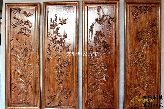 Dongyang Ming and Qing Dynasty Classical Chinese antique wood doors and  Windows partition wall hanging screen - Dongyang Ming And Qing Dynasty Classical Chinese Antique Wood Doors