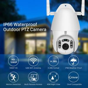 Image 2 - BESDER H.265 1080P Wifi Esterno Impermeabile Telecamera PTZ Speed Dome ONVIF Macchina Fotografica Senza Fili A Due Vie Audio Casa di Sorveglianza IP macchina fotografica