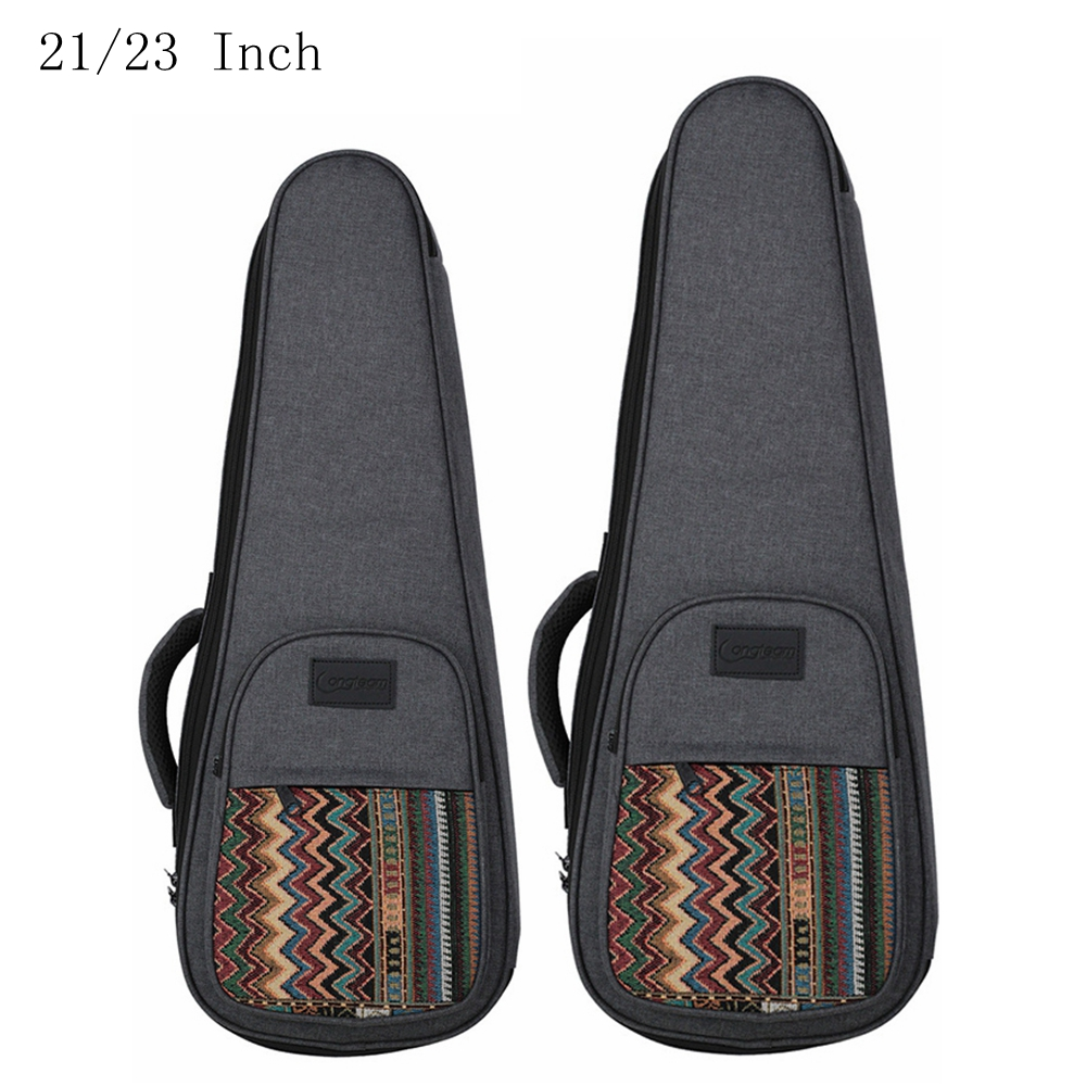 21 23 Inch Ukulele Bag Bohemian Style Knitted Backpack Case 10mm Cotton Padding Adjustable Shoulder Straps in Other Parts Accessories from Sports Entertainment