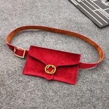 Jauns Velvet Waist Bag Sieviešu Money Belt Ādas Fashion Sieviešu viduklis Bum Bag Belt Sieviešu 2018 Fanny Pack sievietēm Waistbelt Y20
