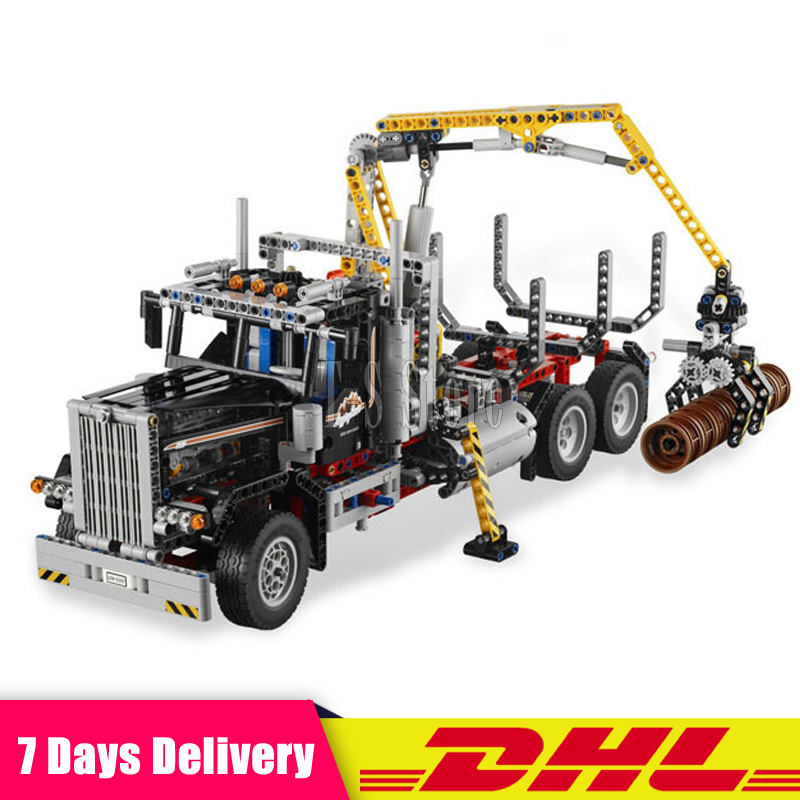 New Lepin 20059 Technic Mechanical Series The Logging Truck Set 1338pcs Children Educational Toys Blocks Bricks Compatible 9397 new big plush sika deer toy lovely standing sika deer doll gift about 90x65cm 0439