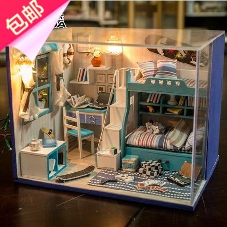 DIY Handmade Cabin House Model Assembled Building Send Pupils Boy Boyfriend Birthday Gift Ideas
