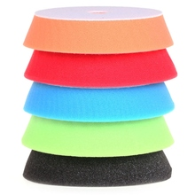 5pcs/set 6 150mm Auto Sponge Polishing Pad Cleaning Tools For Car Polisher Waxing Buffing Plate Pads Kit Set 5 Colors