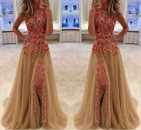 2018 New woman best selling popular sleeveless embroidery dress