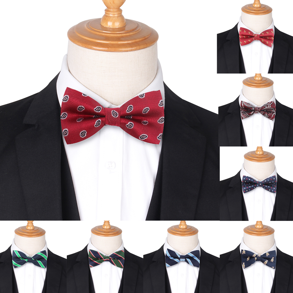 Jacquard Men Bow Tie Classic Shirts Bowtie For Men Business Wedding Bowknot Tie Adult Bow Ties Butterfly Suits Cravats Bowties