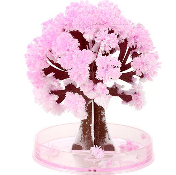 Visual Magic Artificial Sakura Trees Decorative Growing DIY Paper Tree Gift Novelty Baby font b Toy
