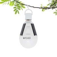 ANBLUB extérieur E27 LED lumière de secours solaire étanche suspendu lampe Rechargeable AC 85-265V pour la randonnée Camping tente pêche